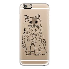 iPhone 6 Plus/6/5/5s/5c Case - Kitty Cat Transparent ($40) ❤ liked on Polyvore