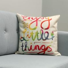 Kissenhülle Enjoy The Little Things Enjoy The Little Things, Throw Pillows, Bed, Home, Slipcovers, Ad Home, Wish List, Toss Pillows, Cushions