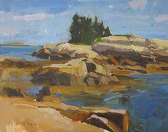 "Low Tide at Two Bush Island 11x14"""