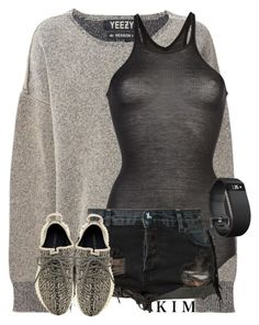 """Untitled #2891"" by whokd ❤ liked on Polyvore featuring adidas Originals, Rick Owens, One Teaspoon and Fitbit"