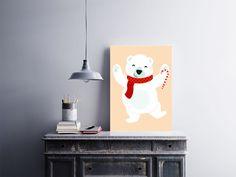 """Placa decorativa """"Urso Polar""""  Temos quadros com moldura e vidro protetor e placas decorativas em MDF.  Visite nossa loja e conheça nossos diversos modelos.  Loja virtual: www.arteemposter.com.br  Facebook: fb.com/arteemposter  Instagram: instagram.com/rogergon1975  #placa #adesivo #poster #quadro #vidro #parede #moldura"""