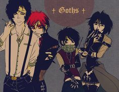 i think i would watch south park more if it was an anime and they were all goth/emo South Park Goth Kids, South Park Anime, South Park Fanart, South Park Characters, Anime Version, Cool Sketches, My Chemical Romance, Manga, Character Illustration