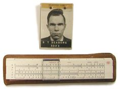 Glenn Seaborg's ID Badge and Slide Rule - nobel prize in Chemistry in 1951 and Chairman of the US Atomic Energy Commission from 1961 to 1971.
