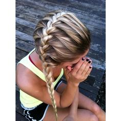 horizontal french braid Hair and Beauty Tutorials