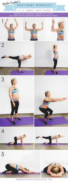 Post Baby Body Workout - How To Get Your Body (and head!) Back In The Game! - Move Nourish Believe
