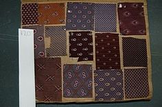 A book of printed chemise and dress fabrics, circa 1860, approx. 230 pages covered with mainly roller-printed cottons and some gauzes, mainly small repeats and florals, many in shade of brown and purple by Steinbach Koechlin, Gros Odier, Tolu & Bertrand, and others
