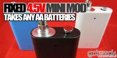 4500mAh Mod (Takes AA Batteries) $9.95 | GOTSMOK.COM Electronic Cigarette, Vaping, Drum Kit, Vaping Mods, Electronic Cigarettes, Vape, Smoking