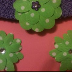 One of my new Creationz... adorable headbands and hair clips! See more on my facebook page BDF Creationz  Will be listed soon on bdfcreationz.etsy.com