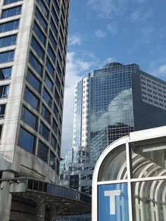 The Fairmont Waterfront and Canada Place and the Waterfront Skytrain Station by aidaneus, via Flickr
