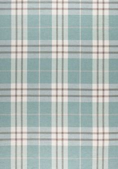 PERCIVAL PLAID, Aqua, W80082, Collection Woven 9: Plaids & Stripes from Thibaut
