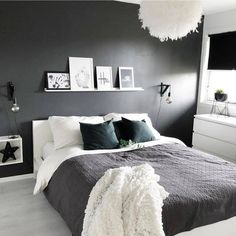 Bedroom Design Ideas Budget Grey And White Bedroom Ideas 2020 # Modern Bedroom Decor, Design Bedroom, Awesome Bedrooms, White Bedroom, Bedroom Wall, Minimalist Bedroom, New Room, Room Inspiration, Interior Inspiration
