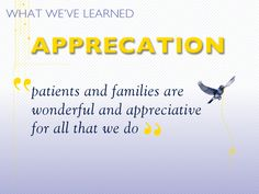 patients and families are wonderful and appreciative for all that we do. #hospicelessons