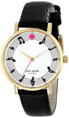 kate spade new york Women's 1YRU0493 Metro Analog Display Japanese Quartz Black Watch