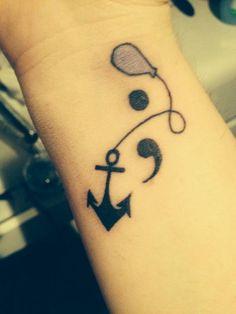 Semicolon, Anchor and Balloon - Cute Semicolon Tattoo Design Ideas, http://hative.com/cute-semicolon-tattoo-design-ideas/,