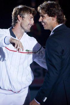 Rafael Nadal pays tribute to Juan Carlos Ferrero in Valencia