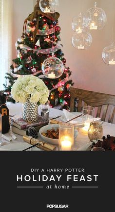 It's actually super easy to re-create the magic of the holiday feast right in your dining room – floating candles, Winter snow, and all. Here's how to pull it off!
