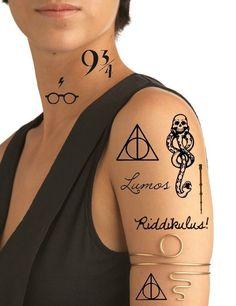 Ship From Ny - Temporary Tattoo - Set Of 8 Harry Potter, Dark Mark