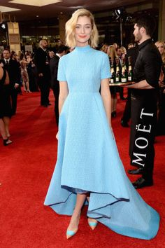 The Best Dresses of Award Season  - Caitlin Fitzgerald at the Golden Globes