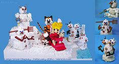 Lego Calvin & Hobbes with Snow Goons
