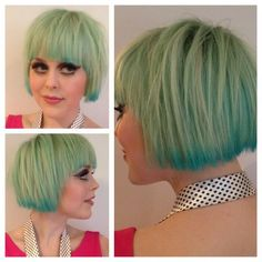Long hair with layers and fringe made a beautiful turquoise shade by using Manic Panic Atomic Turquoise. Description from pinterest.com. I searched for this on bing.com/images