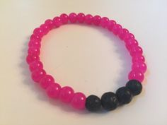 Lava Rock Diffuser Bracelet - Hot Pink by HarpersHandmadeCo on Etsy https://www.etsy.com/listing/281015624/lava-rock-diffuser-bracelet-hot-pink
