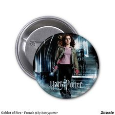 Goblet of Fire - French 3 2 Inch Round Button