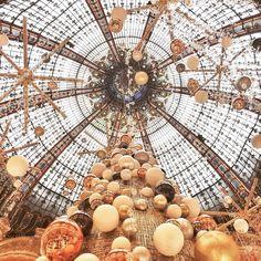"GALLERIES LAFAYETTE, Paris,France, "" Christmas at Galleries Lafayette!"", pinned by Ton van der Veer"