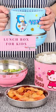 Shape: RoundFeature: cartoonFeature: Thermal InsulationFeature: LeakproofFeature: Eco-FriendlyMaterial: STAINLESS STEELBrand Name: HappyplaySizes: food lunch Bento bo. Kids Lunch Containers, Food Containers, Kids Picnic, Picnic Ideas, Cool Lunch Boxes, Noodle Bowls, Bento Box, Recipe Box, Kids Meals