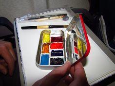 """from """"art in my heart"""" blog. An art palette made from an Altoids box"""