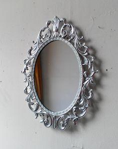 Princess+Wall+Mirror++Ornate+Oval+Frame+in+by+SecretWindowMirrors,+$46.50