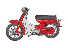 Yamaha Vector by tipudaya Bike Illustration, Flat Design Illustration, Graphic Illustration, Illustrations, Compass Tattoo Design, Honda Bikes, Yamaha Motor, Japanese Art, Character Art