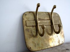RESERVED Vintage Metal Brass Hooks - Coat Hooks - Towel Hooks - Wall Hook on Etsy, Sold