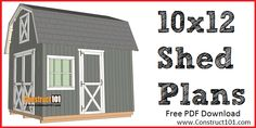 barn to shed plans, includes measurements, drawings, shopping list, and cutting list. Free DIY plans at