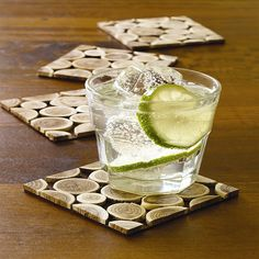 Natural beauties, these eco-friendly coasters will add texture and interest to your table.