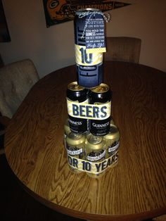 10 year anniversary gift for him ! 10 beers for 10 years!