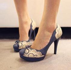 British wind carve patterns high-heeled single shoes  $15