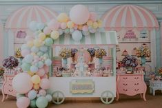 Candy Theme Birthday Party, Baby Girl Birthday Cake, Carousel Birthday Parties, Candy Party, 2nd Birthday Parties, Kids Party Decorations, Ideas, Baby Party, Candy Themed Party