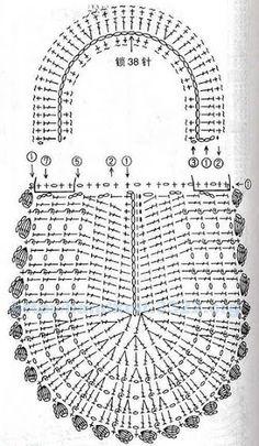cartera tejida - imagen y diagrama( bella )