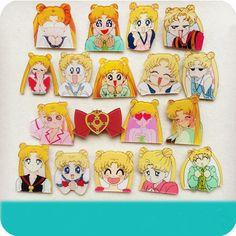 Cute kawaii cartoon sailor moon badge brooch