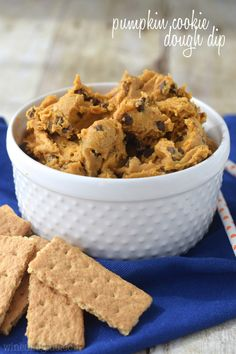This Pumpkin Cookie Dough Dip is the real deal! Egg free, pumpkinrific, and totally delicious!