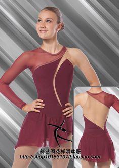 Hielo de patinaje ropa para mujeres barato artístico patinaje hot venta spandex trajes de patinaje artístico de color marrón(China (Mainland))