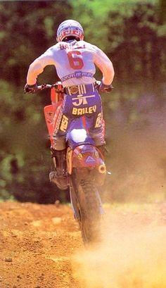 David Bailey Off Road Racing, Mx Bikes, Motocross Riders, Off Road Bikes, Vintage Helmet, David Bailey, Vintage Motocross, Honda Cr