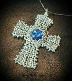 3 cross pendant pattern tutorial in one! buy and save 7 dollars Beaded Cross, Bead Loom Bracelets, Cross Designs, Jewelry Making Tutorials, Bead Weaving, Cross Pendant, Beading Patterns, Crystal Beads, Crochet Projects