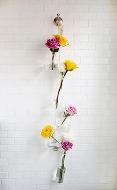 DIY Hanging Vases Display