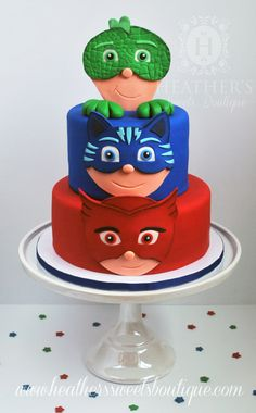 PJ Masks Cake ~ Heather's Sweets Boutique ~ www.heatherssweetsboutique.com ~ www.facebook.com/HSBcakes