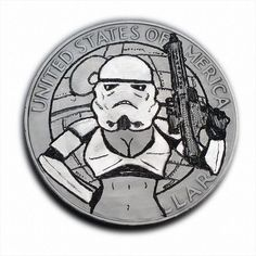 Sexy Stormtrooper! #S505 Ike Dollar Hobo Nickel Engraved by Luis A Ortiz