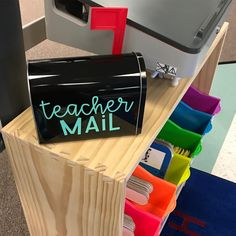 "548 Likes, 12 Comments - Chelsey (@hipsterartteacher) on Instagram: ""The teacher mailbox in my room is from @joann_stores online! I used my @silhouette.inc cameo 3 to…"""