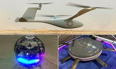 Drones of the future unveiled l Flying saucer and floating orb among new aircraft that could soon take to our skies