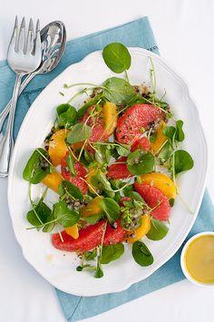 Citrus Watercress Salad with olive-caper vinaigrette by Lindsey Johnson {Cafe Johnsonia}, via Flickr