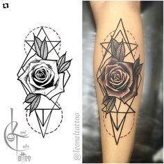 Resultado de imagem para rosa em formade arabesco tatuagens